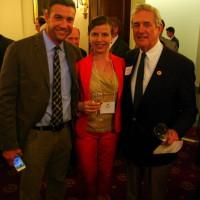 Duncan Hunter (R-CA) Co-Chair of the Congressional Wine Caucus - Tara Good, WineAmerica - Rick Nolan (D-MN)