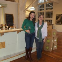 Tara Good, WineAmerica, with Vicky McClellan at Seven Hills Winery.