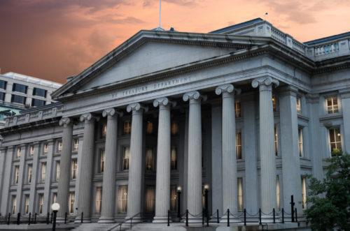 Exterior of United States Department of Treasury